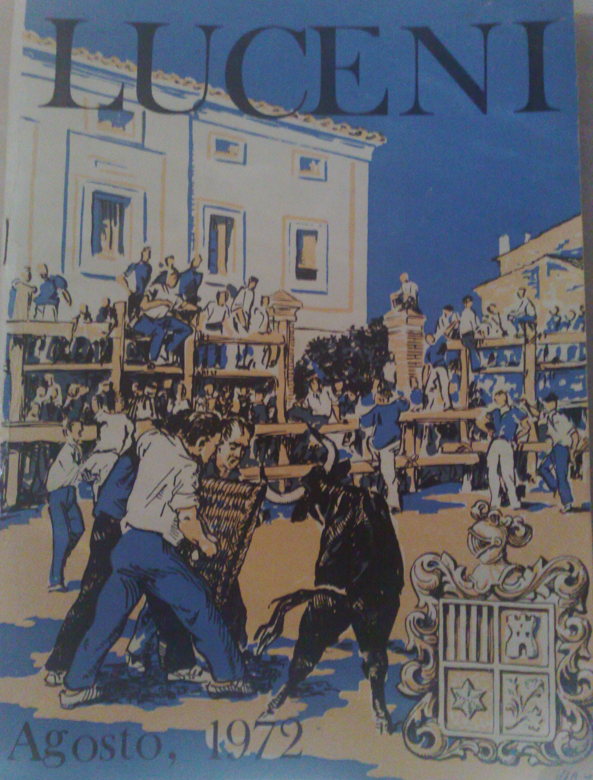 programa de fiestas - Luceni 1972